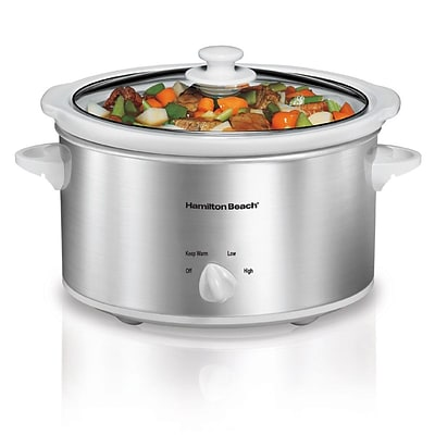 Hamilton Beach® 4 quart Oval Slow Cooker; Silver