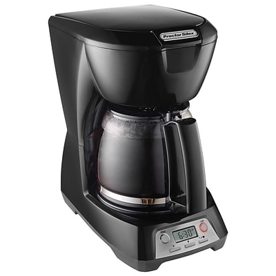 Proctor Silex® 12 Cup Programmable Coffee Maker, Black