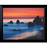 Diamond Decor Smooth Water Framed Print Art, 15 x 19