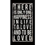 Diamond Decor Happiness Quote Framed Print Art, 16 x 34