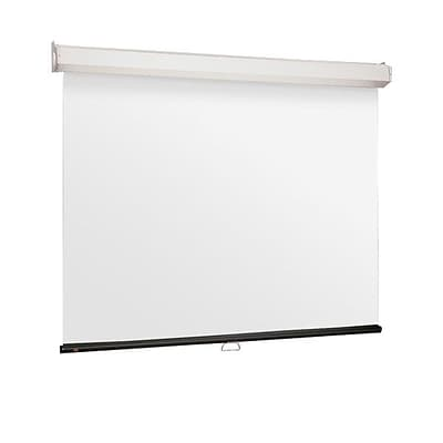 Draper® 206014 120 Luma 2 Manual Projection Screen; 4:3, White Casing