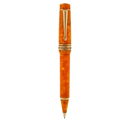 Delta Dolcevita Oro 0.9 mm Mid-Size Vermeil Trim Pencil, Orange