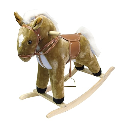 Happy Trails™ Plush Rocking Horse With Sound, Brown
