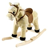 Happy Trails™ Plush Rocking Lil Henry the Horse, Brown/Beige