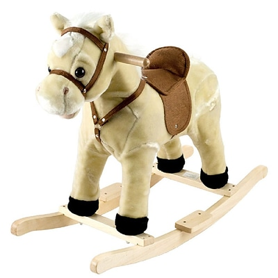 Happy Trails Plush Rocking Lil Henry the Horse, Brown/Beige (886511001893)
