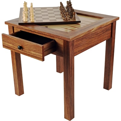 Trademark Games 3 in 1 Chess Backgammon Table (886511062108)
