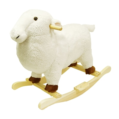 Happy Trails™ Plush Rocking Lamb, White