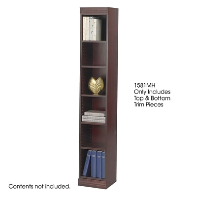 Safco® Baby 12W Solid Wood Bookcase Trim Kit, Mahogany