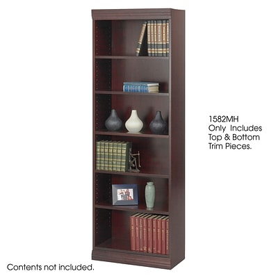 Safco® Baby 24W Solid Wood Trim Kit, (for Bookcase), Mahogany