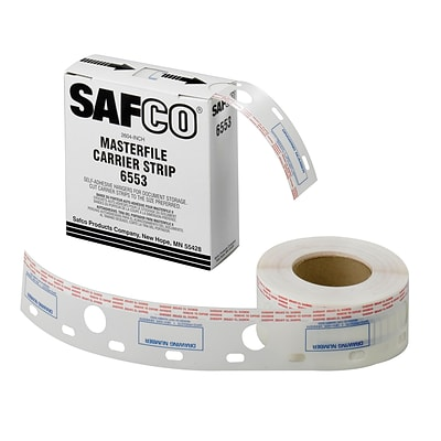 Safco® Graphic Arts 2 1/2W Polyester Carrier Strip For MasterFile 2