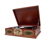 Studebaker SB6051 Wooden Turntable With AM/FM Radio,  33/45/78 RPM