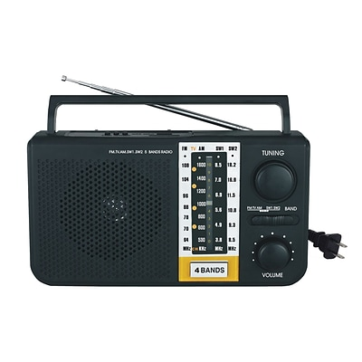 Supersonic® 5 Band AM/FM/SW1/SW2/TV Portable Radio