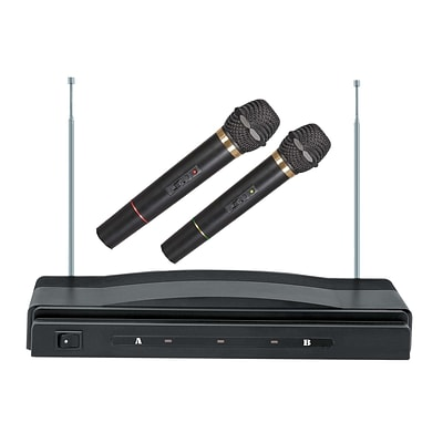 Supersonic® SC-900 Professional Wireless Dual Microphone System,  Black