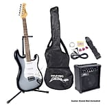 Pyle® Beginner Electric Guitar Package, Grey Silver