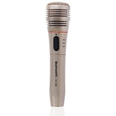 QFX M-308 Wireless Dynamic Professional Microphone,  Silver