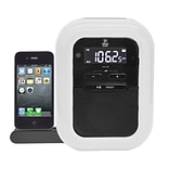 Pyle® PICL36B Clock Radio For iPod/iPhone/Docking Station;  White/Black