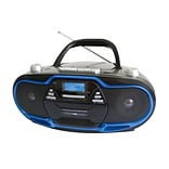 Supersonic®SC-745 Portable MP3/CD Player With USB/Aux Inputs/Cassette Recorder and AM/FM Radio, Blue