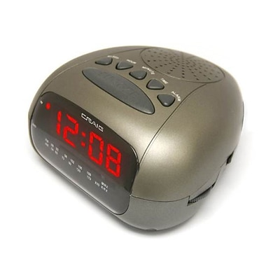 Craig® CR45329B Dual Alarm Clock Digital PLL LED AM/FM Radio;  Black