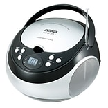 Naxa® NPB-251 Portable CD Player With AM/FM Stereo Radio,  Black