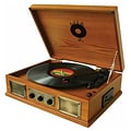 Back To The 50s TB-2915 3 Speed Wooden Turntable,  33/45/78 RPM
