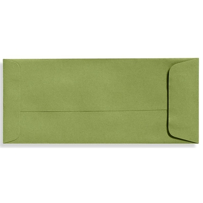 LUX® 70lbs. 4 1/8 x 9 1/2 #10 Open End Envelopes W/Glue, Avocado Green, 250/BX