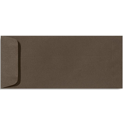 LUX® 70lbs. 4 1/8 x 9 1/2 #10 Open End Envelopes W/Glue, Chocolate Brown, 250/BX