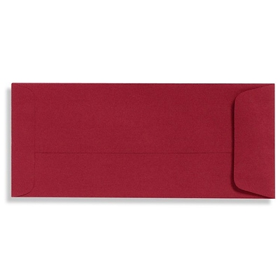 LUX® 4 1/8 x 9 1/2 #10 70lbs. Open End Envelopes, Garnet Red, 50/Pack