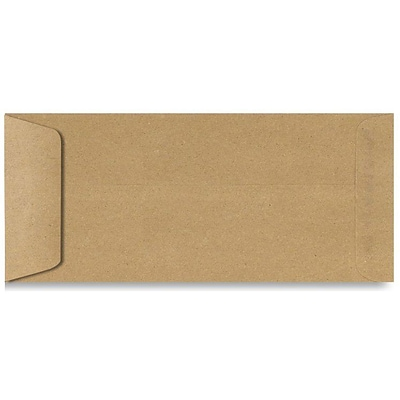 LUX® 70lb 4 1/8x9 1/2 Open End #10 Envelopes, Grocery Bag Brown, 1000/BX