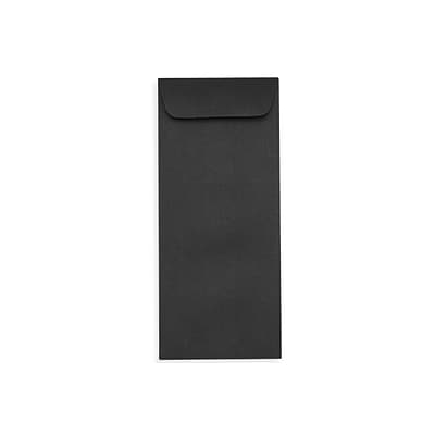 LUX® 80lb 4 1/8x9 1/2 Open End #10 Envelopes, Midnight Black, 500/BX