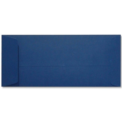 LUX® 4 1/8 x 9 1/2 #10 80lbs. Open End Envelopes, Navy Blue, 50/Pack