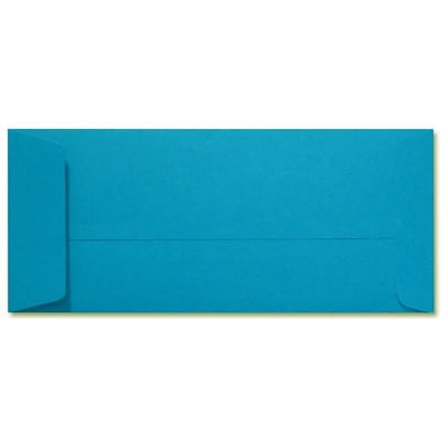 LUX® 80lbs. 4 1/8 x 9 1/2 #10 Open End Envelopes, Pool Blue, 1000/BX