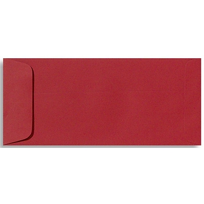 LUX® 70lbs. 4 1/8 x 9 1/2 #10 Open End Envelopes, Ruby Red, 1000/BX
