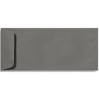 LUX® 70lbs. 4 1/8 x 9 1/2 #10 Open End Envelopes, Smoke Gray, 500/BX