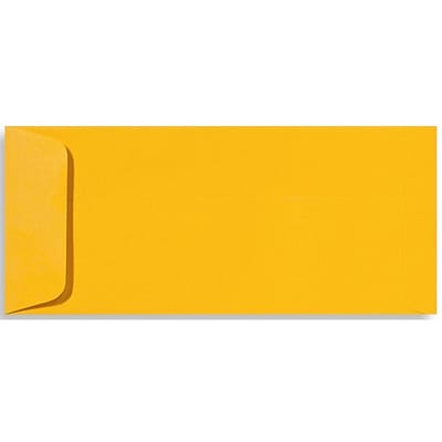 LUX® 70lbs. 4 1/8 x 9 1/2 #10 Open End Envelopes, Sunflower Yellow, 250/BX