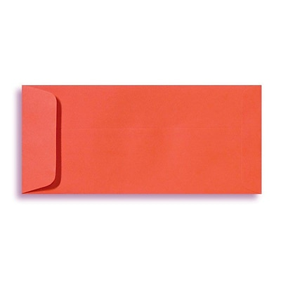 LUX® 80lb 4 1/8x9 1/2 Open End #10 Envelopes, tangerine orange, 500/BX