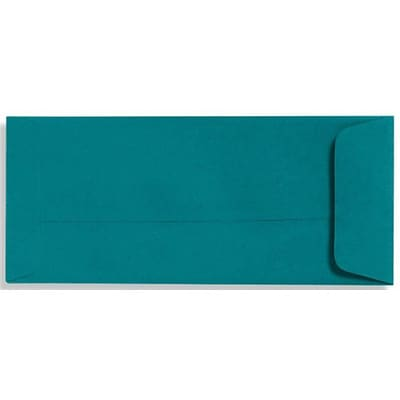 LUX® 4 1/8 x 9 1/2 #10 70lbs. Open End Envelopes, Teal Blue, 50/Pack
