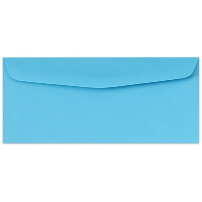 LUX® 4 1/8 x 9 1/2 #10 60lbs. Bright Regular Envelopes, Blue, 50/Pack