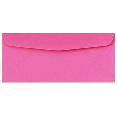 LUX® 4 1/8 x 9 1/2 #10 60lbs. Bright Regular Envelopes, Fuchsia Pink, 50/Pack