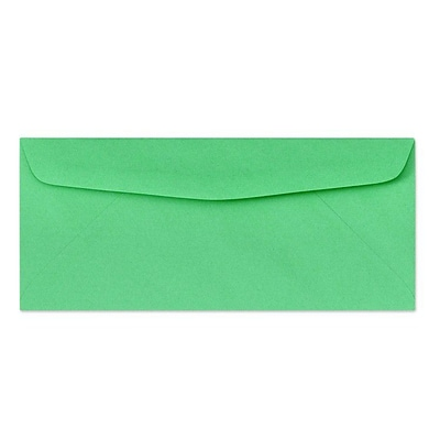 LUX® 60lbs. 4 1/8 x 9 1/2 #10 Bright Regular Envelopes, Bright Green, 1000/BX