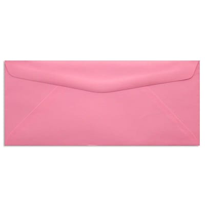 LUX® 60lbs. 4 1/8 x 9 1/2 #10 Bright Regular Envelopes, Electric Pink, 250/BX