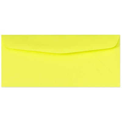 LUX® 60lbs. 4 1/8 x 9 1/2 #10 Bright Regular Envelopes, Electric Yellow, 1000/BX