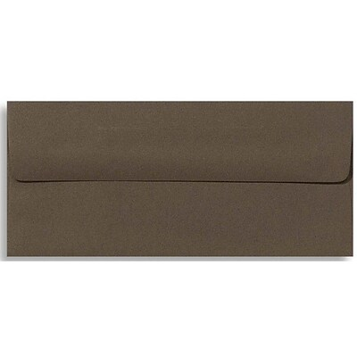 LUX® 70lbs. 4 1/8 x 9 1/2 #10 Exclusive Square Flap Envelopes; Chocolate Brown, 1000/BX