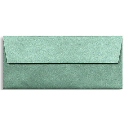LUX® 80lbs. 4 1/8 x 9 1/2 #10 Square Flap Envelopes, Emerald Metallic Green, 500/BX