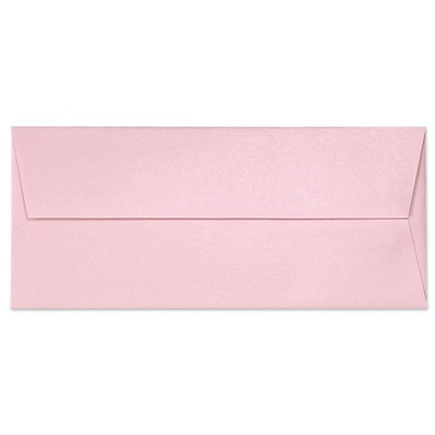 LUX® 80lbs. 4 1/8 x 9 1/2 #10 Square Flap Envelopes, Rose Quartz Metallic Pink, 500/BX