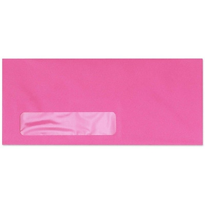 LUX® #10 (4 1/8 x 9 1/2) Bright Window Envelopes, Bright Fuchsia Pink Pink, 250/BX