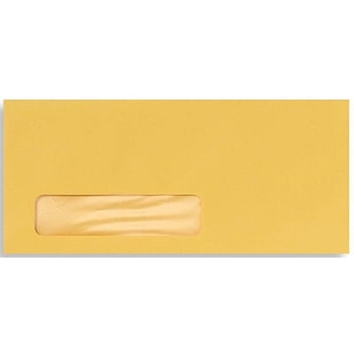 LUX® #10 (4 1/8 x 9 1/2) Window Envelopes, goldenrod yellow, 500/BX