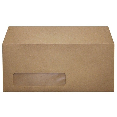 LUX® 70lbs. 4 1/8 x 9 1/2 #10 Window Envelopes, Grocery Bag Brown, 1000/BX