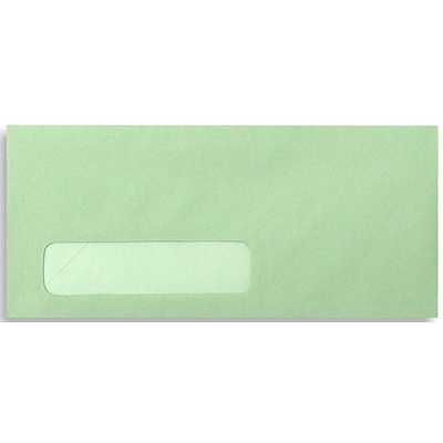 LUX® 4 1/8 x 9 1/2 #10 Window Envelopes, Pastel Green, 50/Pack