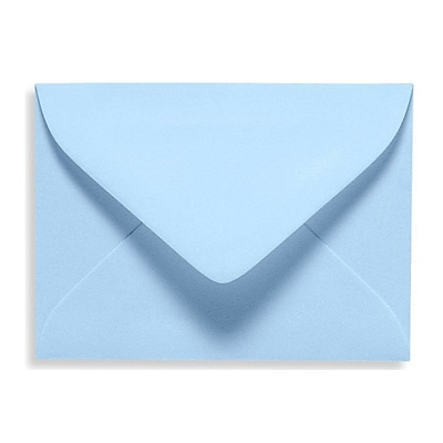 LUX® 2 11/16 x 3 11/16 70lbs. #17 Mini Envelopes W/Glue, Baby Blue, 50/Pack