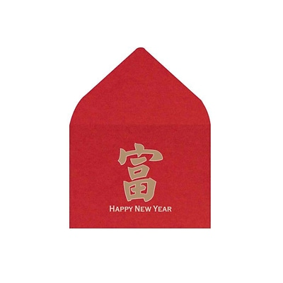 LUX #17 Mini Envelopes (2 11/16 x 3 11/16) 50/Box, Chinese New Year (LEVC-96-50)